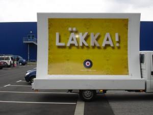 Bionade-Werbung vor IKEA