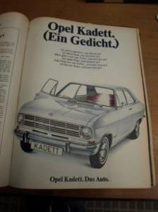 opel das auto 1968
