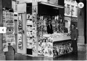 Kiosk der Familie Panini in Modena in den 50er Jahren - Ursprung der Marke