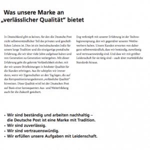 Markenhandbuch Deutsche Post (Auszug)
