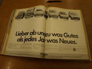 VW-Werbung, 1971 (Als man noch wusste, was wirklich wirkt)