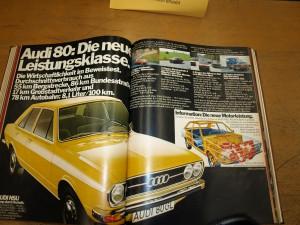 Leitbilder - AUDI Werbung mit Aussage, 1973